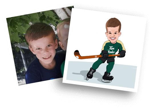 Before/After Boy Caricature