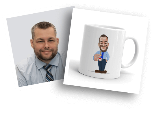 Before/After Caricature Mug