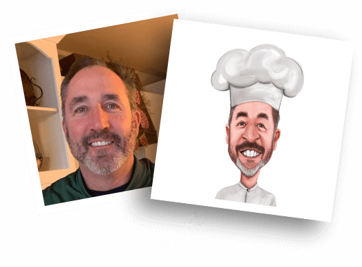 Before/After Chef Caricature