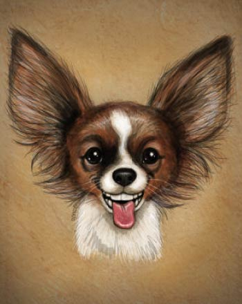 Puppy Caricature with cute face