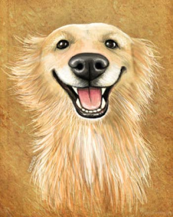 Funny Smilling Dog Caricature