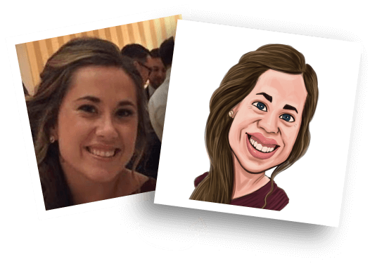 Before/After Girl Caricature