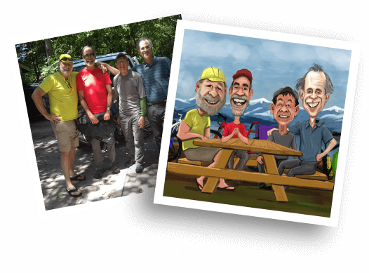 Before/After Group Caricature