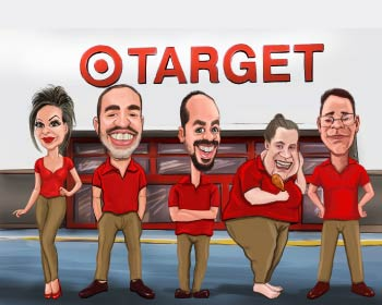 Target employees caricature