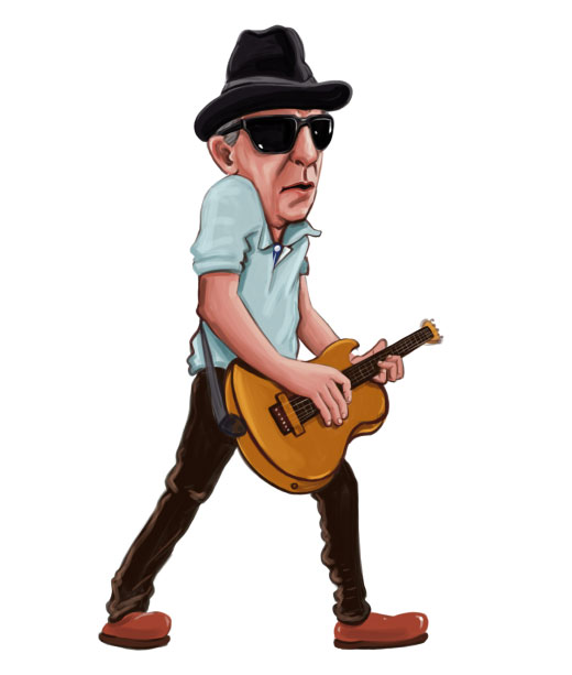 Male Guitarist Caricature
