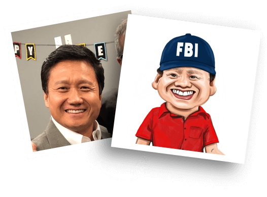 Before/After Police Caricature