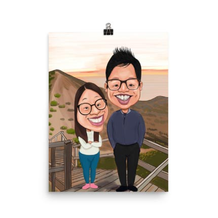 Caricature on Puzzle Print