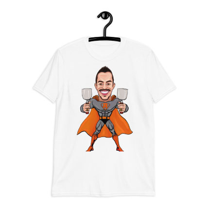 Caricature Drawing on T-shirt Print